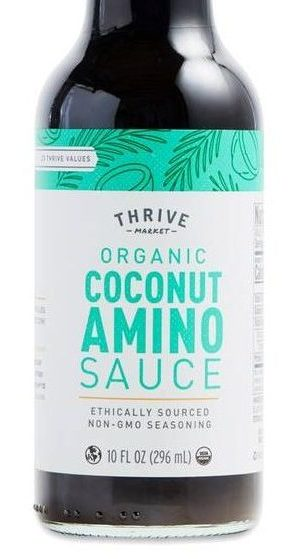 lectin free shopping list - soy sauce coconut aminos