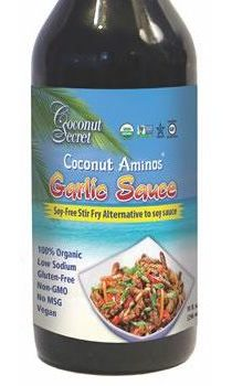lectin free shopping list - coconut garlic sauce